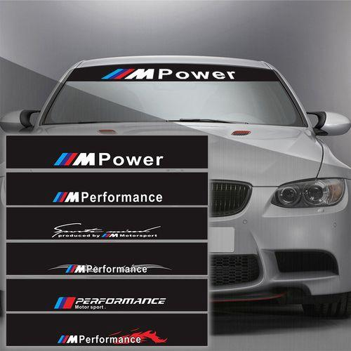 1pcs Reflective M Performance Power Front Rear Windshield Window Decal  Stickers For BMW F10 F20 F30 M3 M5 Car Styling | Shopee Malaysia