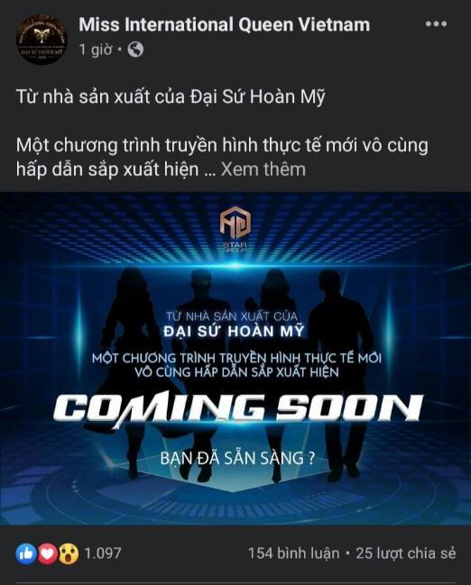 """Hương Giang Entertainment """"úp mở"""" việc sản xuất một chương trình truyền hình thực tế mới?"""
