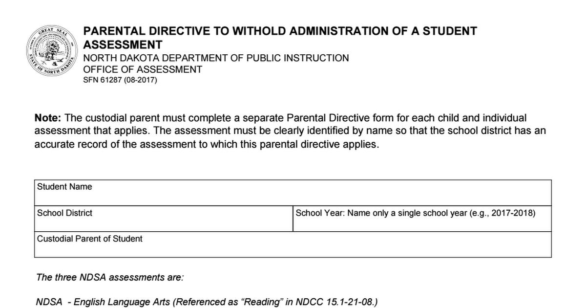 Directives parentales pour la datation