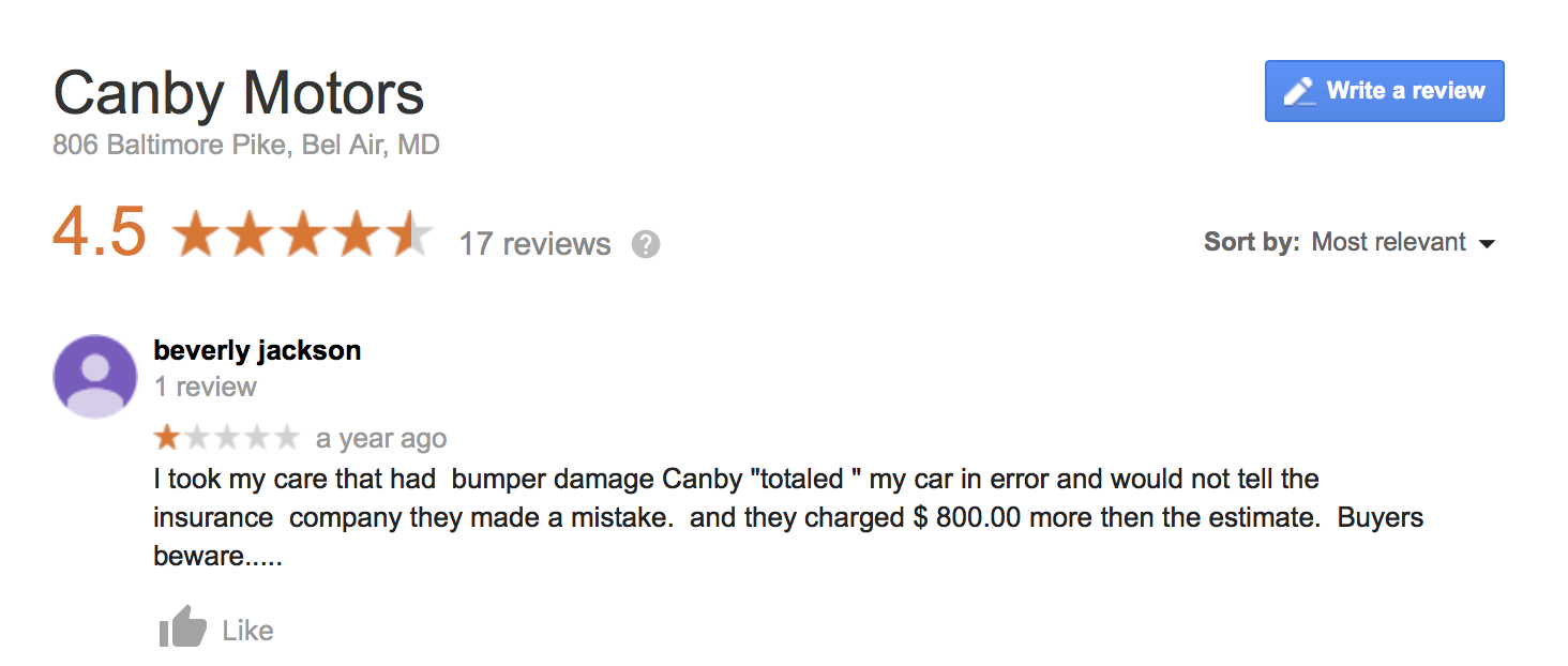 Canby Motors review - 2