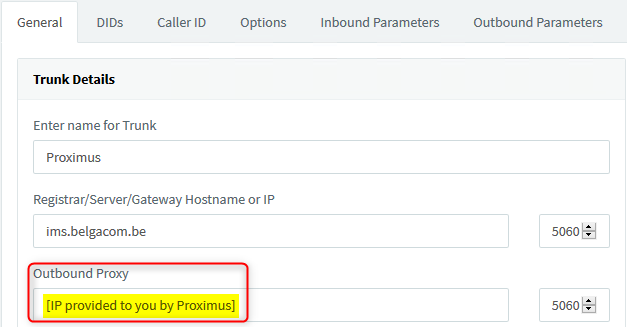 Configuring Belgian SIP Trunk Proximus with 3CX 15 5