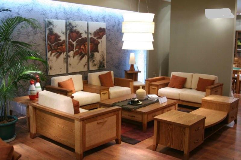 Bộ bàn ghế sofa gỗ phòng khách hiện đại