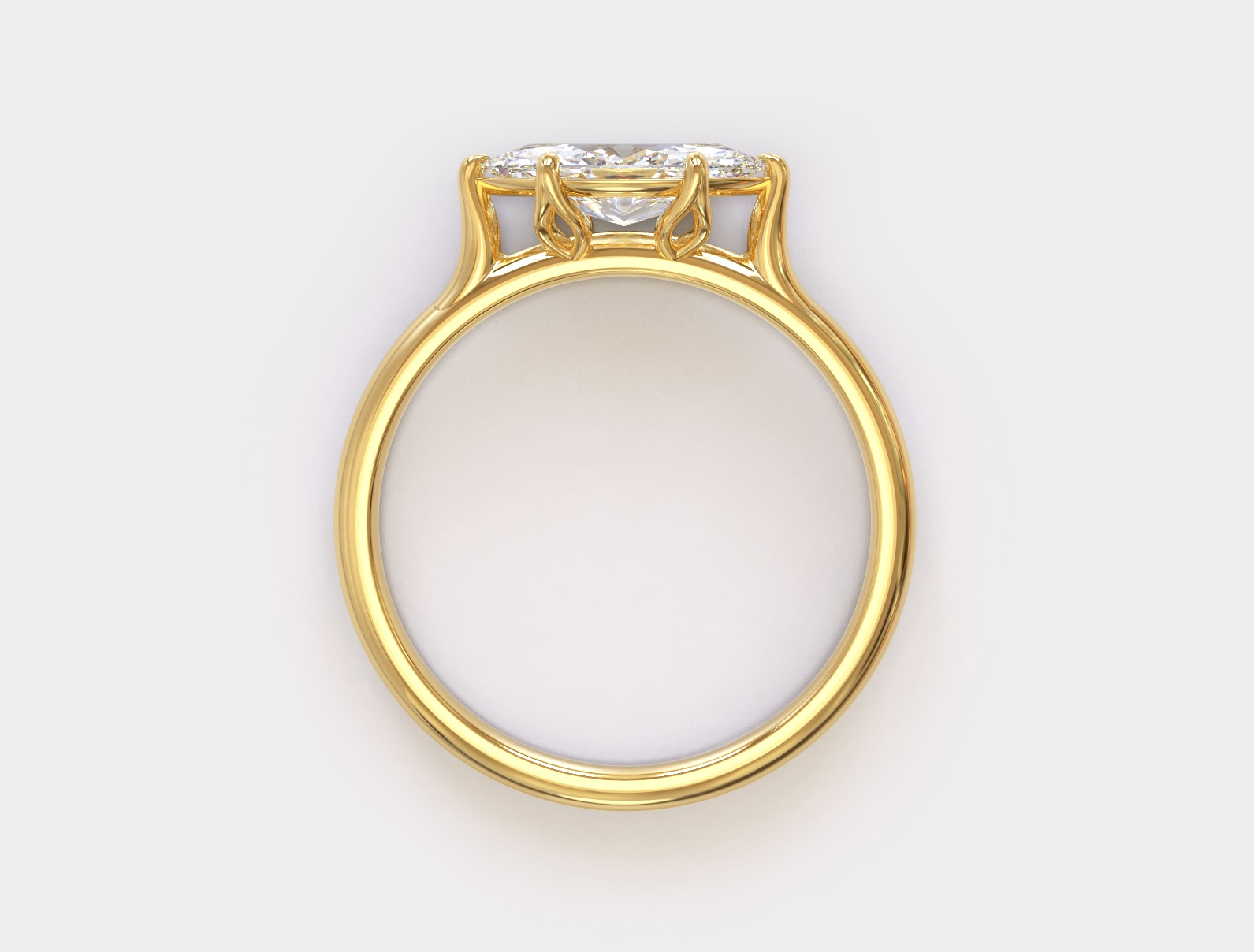 An east-west marquise ring