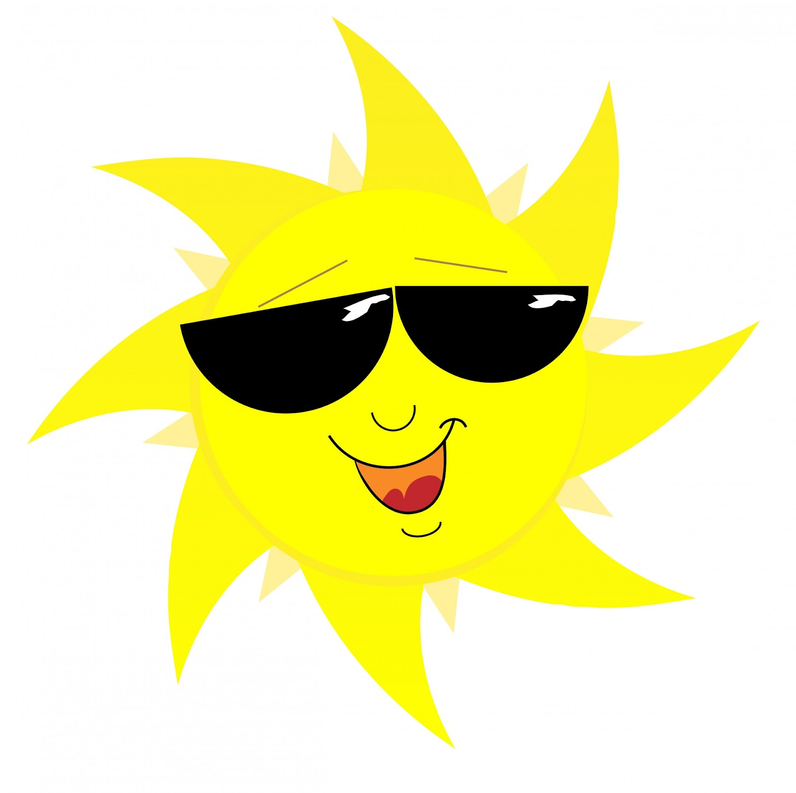 Smiling Sun Face In Sunglasses Free Stock Photo - Public Domain ...