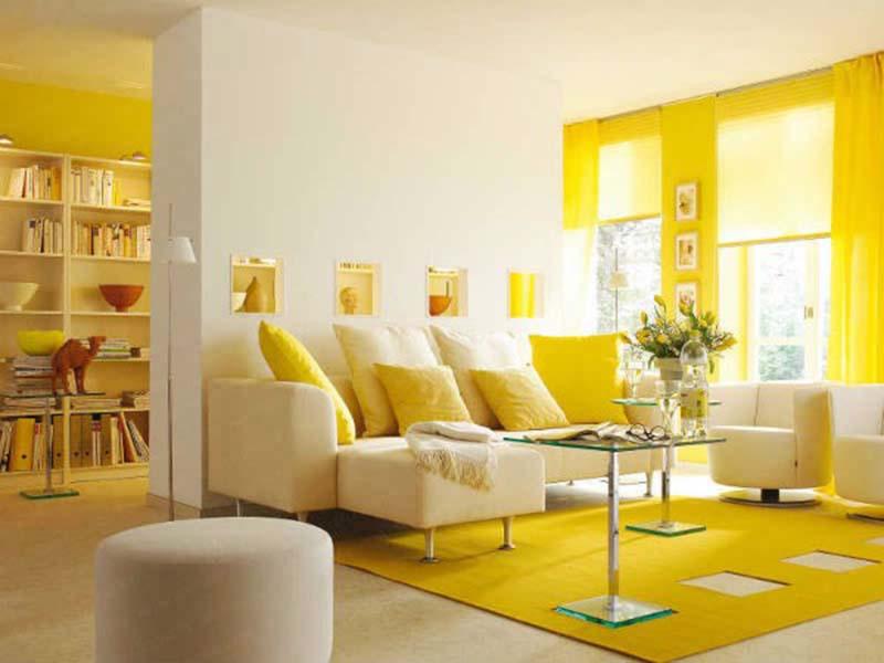 sơn tường nhà màu vàng