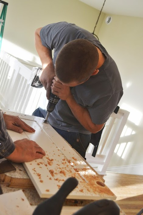 Installing Pie Cut Hinged Doors For Lazy Susan Corner