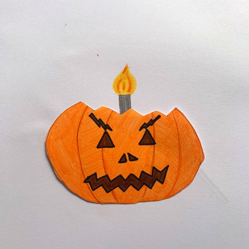 citrouille d'Halloween avec bougie