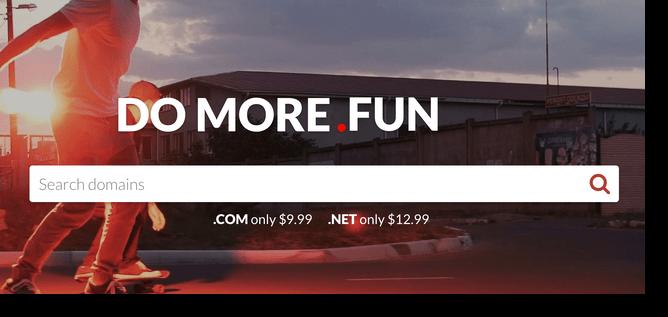 do more fun website purchase the domain name