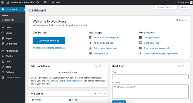 Website design with WordPress website builder