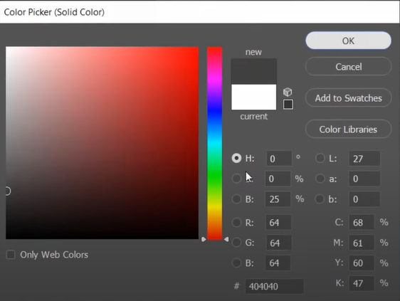 Select a color on the Color Picker window