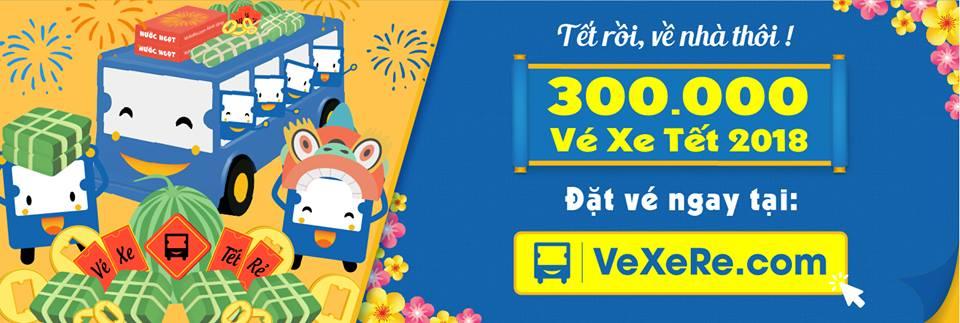 300 000 Vé xe Tết 2018 mở bán tại VeXeRe.com