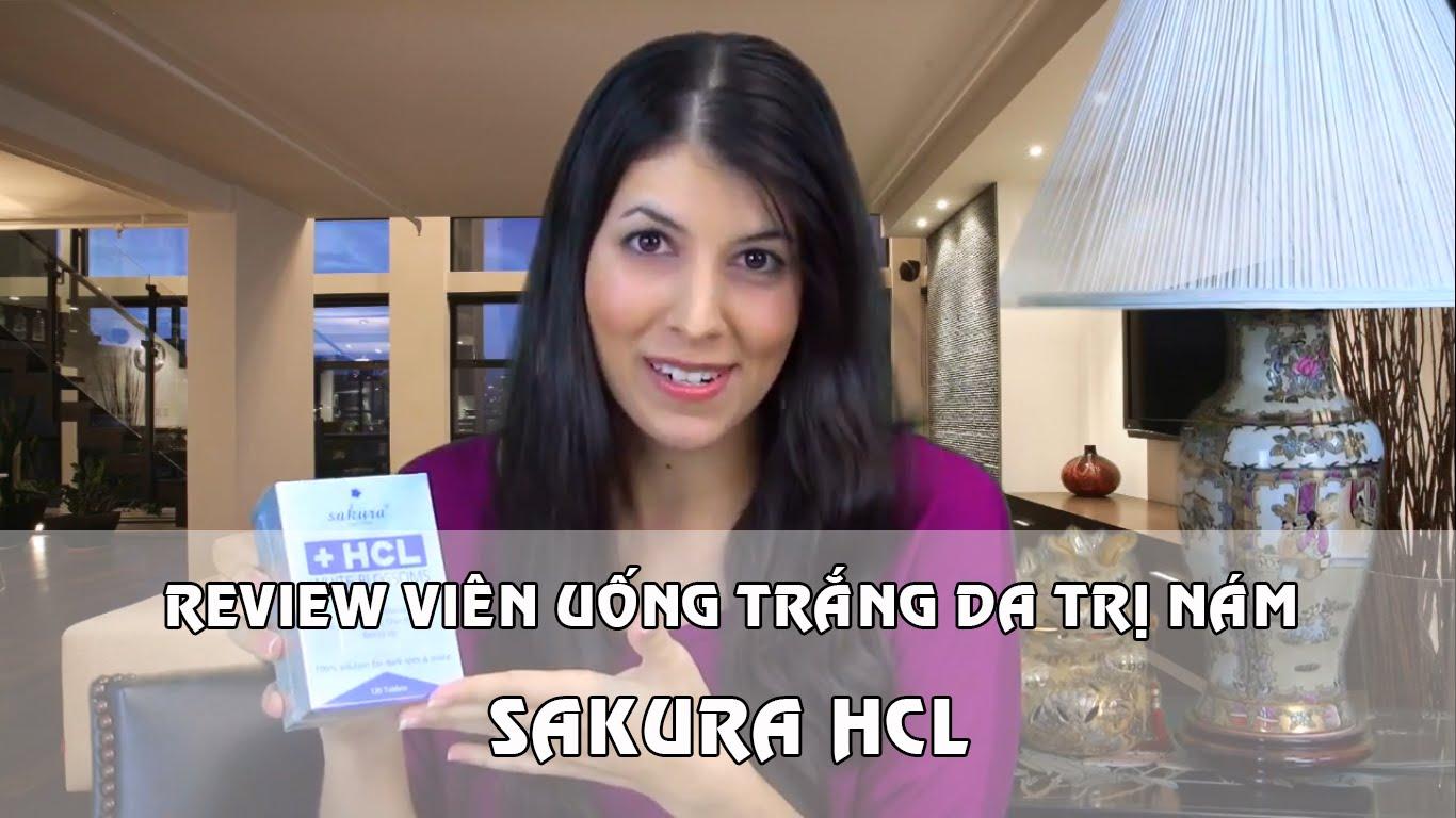 Review viên uống trị nám Sakura HCL Blossoms Ex