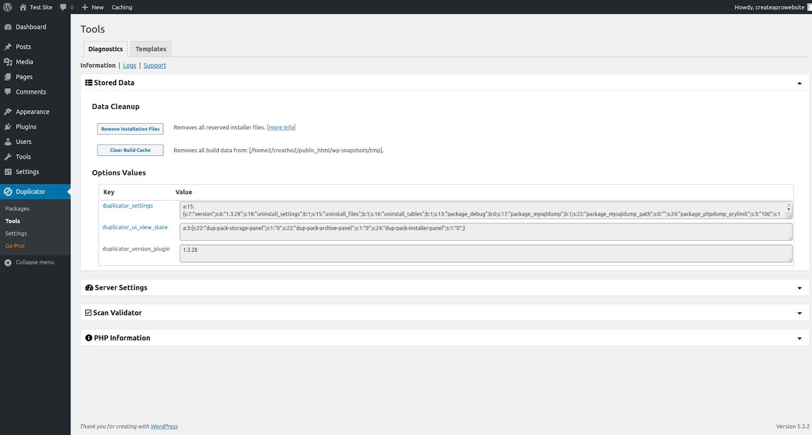 duplicator wordpress migration plugin features