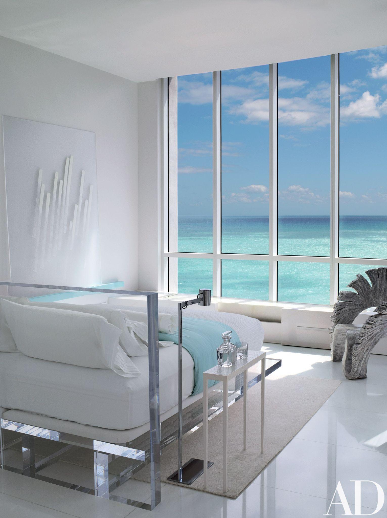 Minimalist Haven Bedroom with Beach View