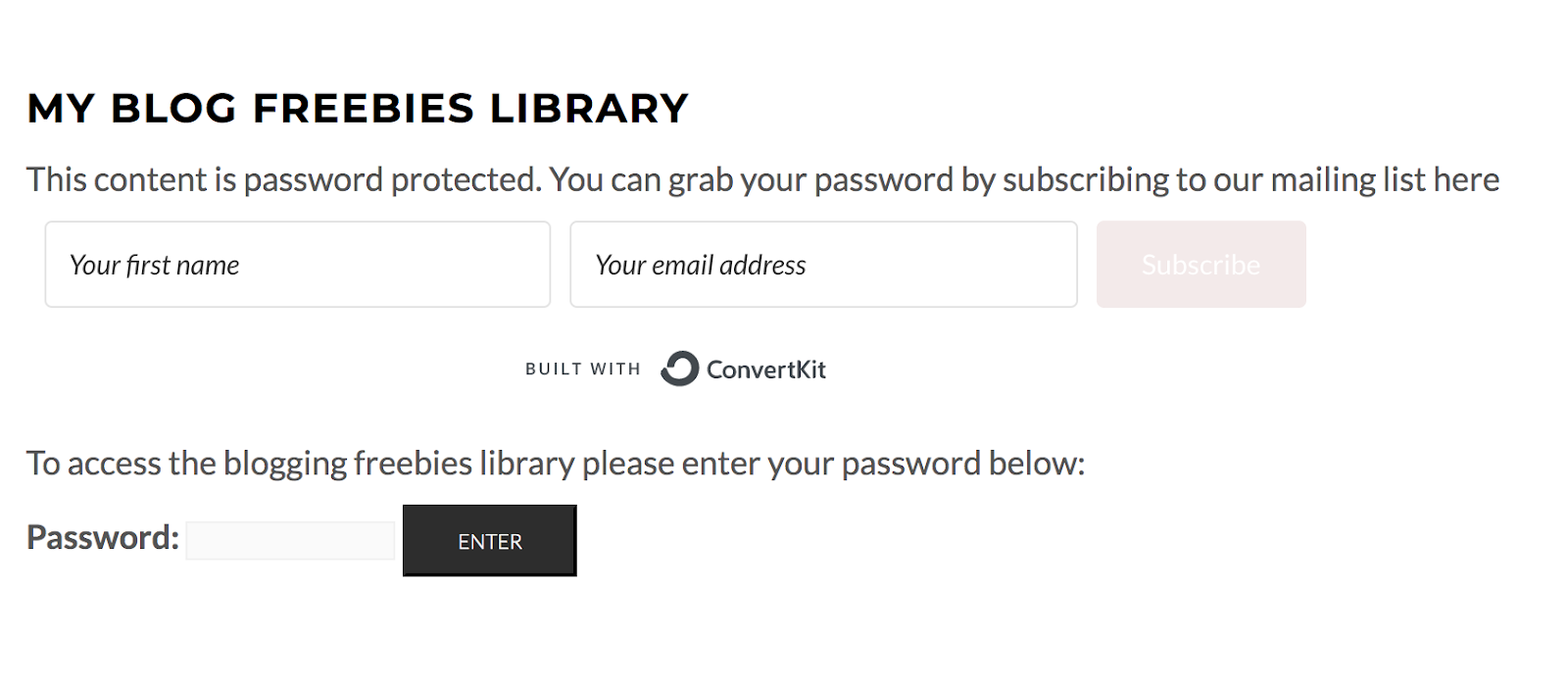 password protected login page on WordPress