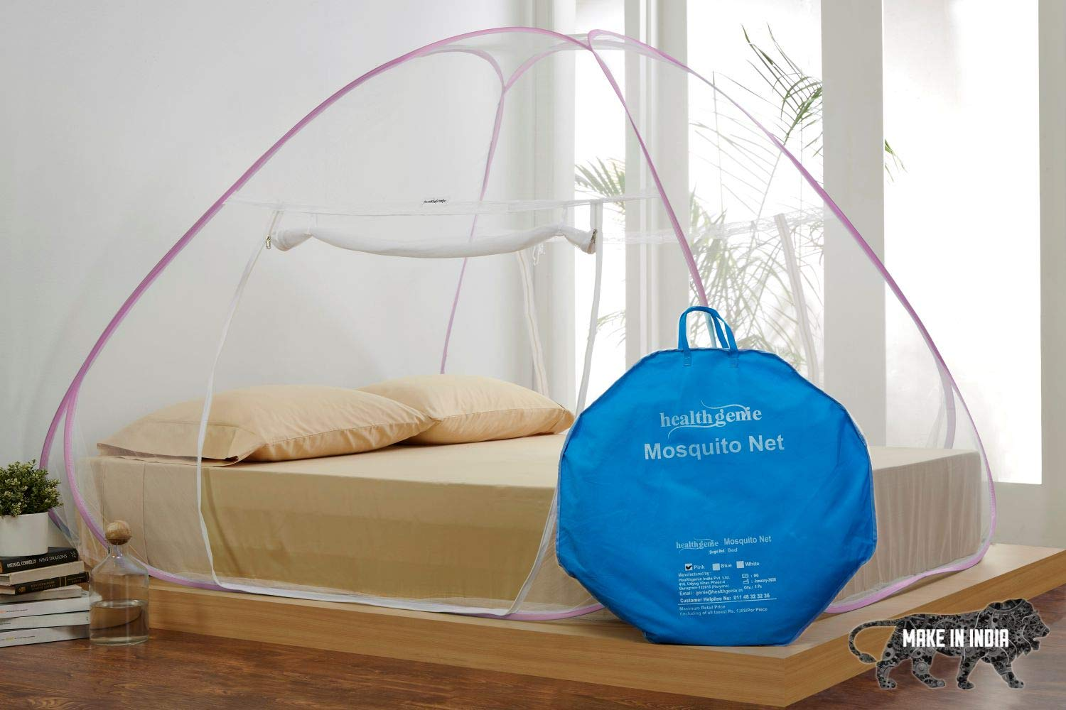 Healthgenie Foldable Mosquito Net For Double Bed (Budget Choice)
