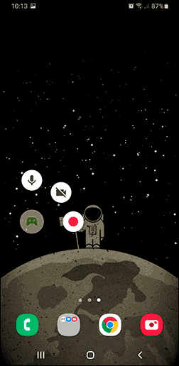 Запись домашнего экрана Android в Play Игры
