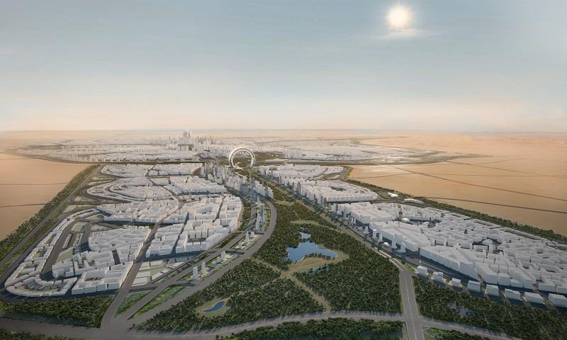 Artist's render of Egypt's New Administrative Capital, planned for a 725-sq-km site in the desert east of Cairo (Courtesy of the Urban Development Consortium, UDC+5)