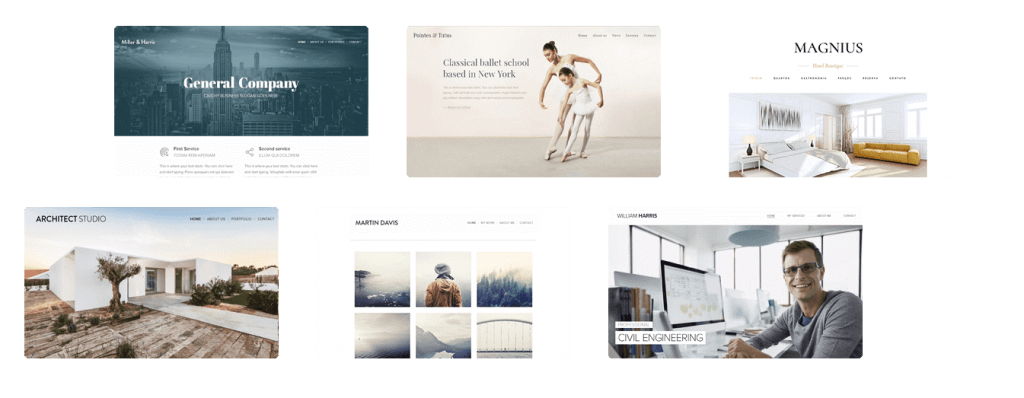 Stunning templates for every website from Webnode