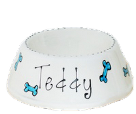 Puppy Bowls, Ceramic Puppy Bowls, Personalised Puppy Bowls