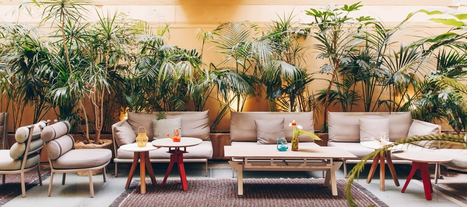 espace lounge patio entreprise