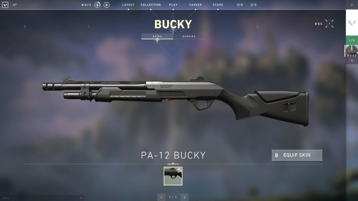 Bucky shotgun top weapons in valorant
