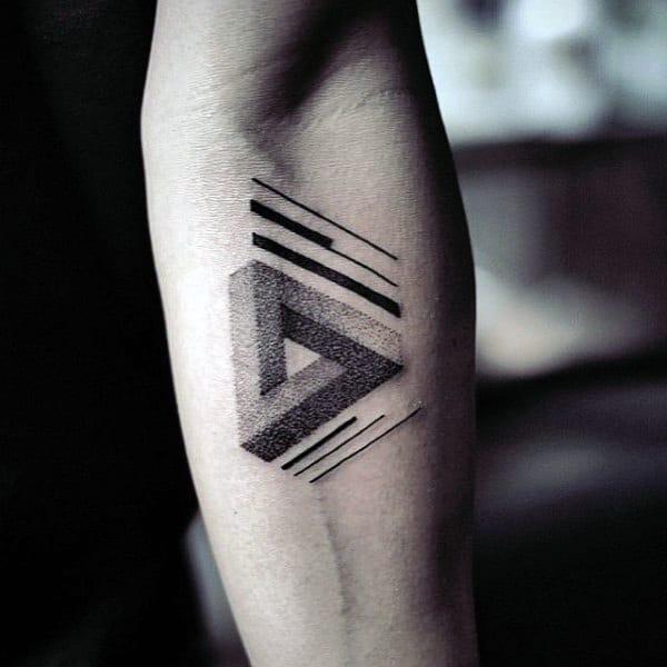 ลายสักสามเหลี่ยมผู้ชาย 06