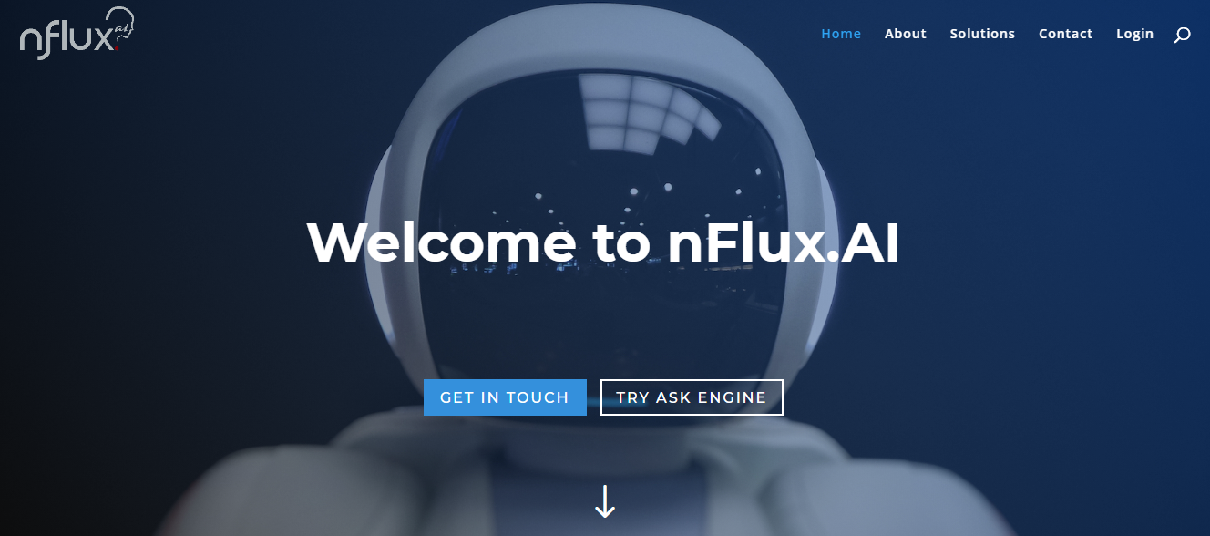 A screengrab of nFlux AI website