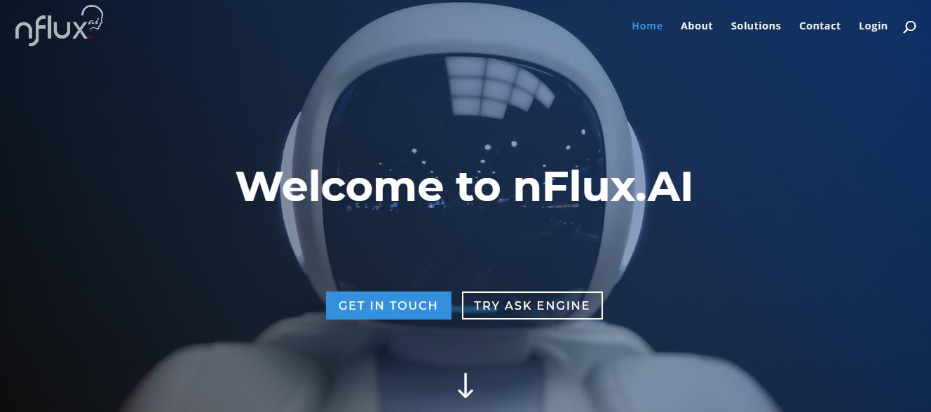 A screengrab of nFlux AI website