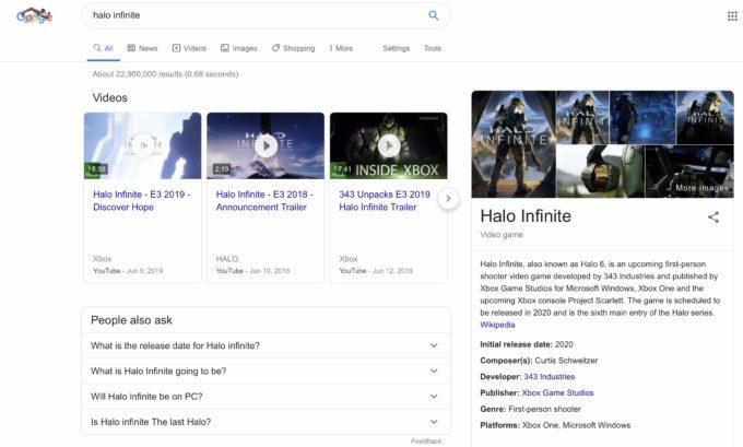 Google está probando una nueva interfaz de búsqueda para los videojuegos 3