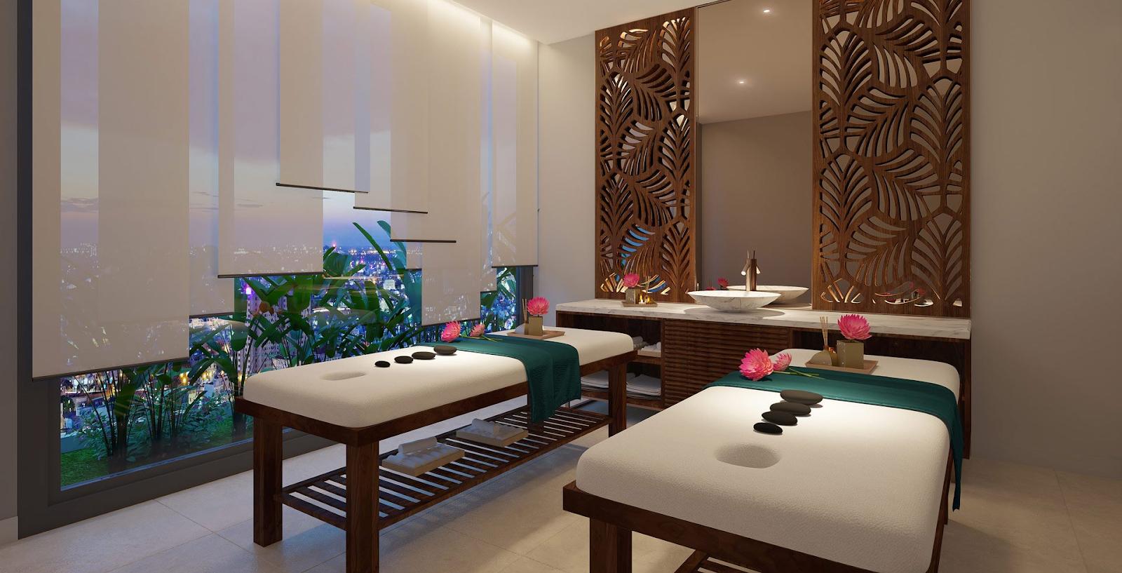 Phòng Spa và Sauna thư giãn tại dự án Aio City Bình Tân