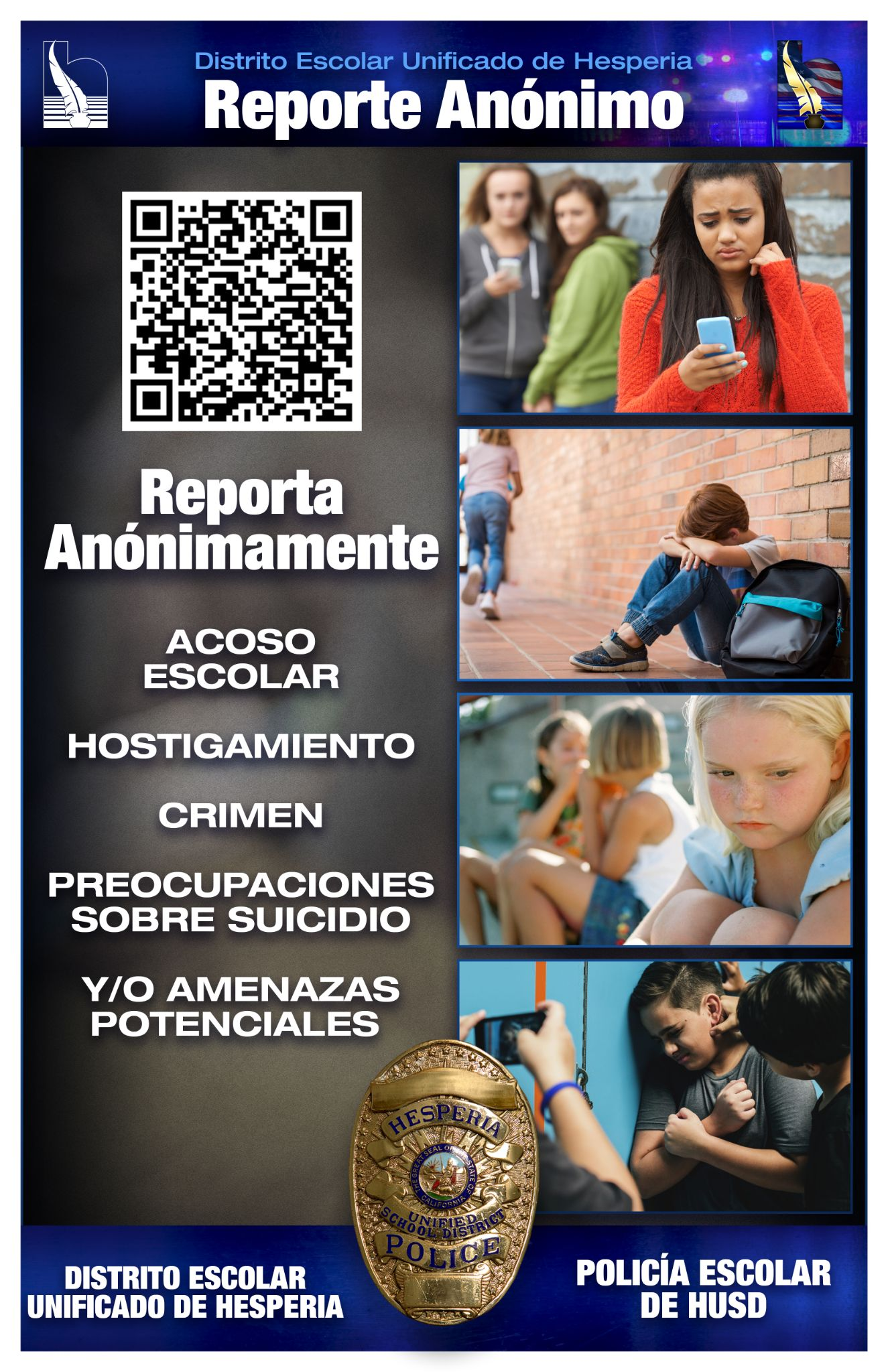 Anonymous Report Flyer (Spanish)