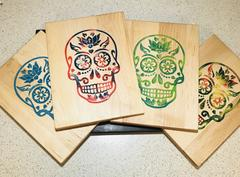 lotus sugar skull charcuterie boards resin