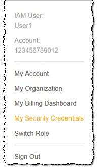 Select S3 Access Key