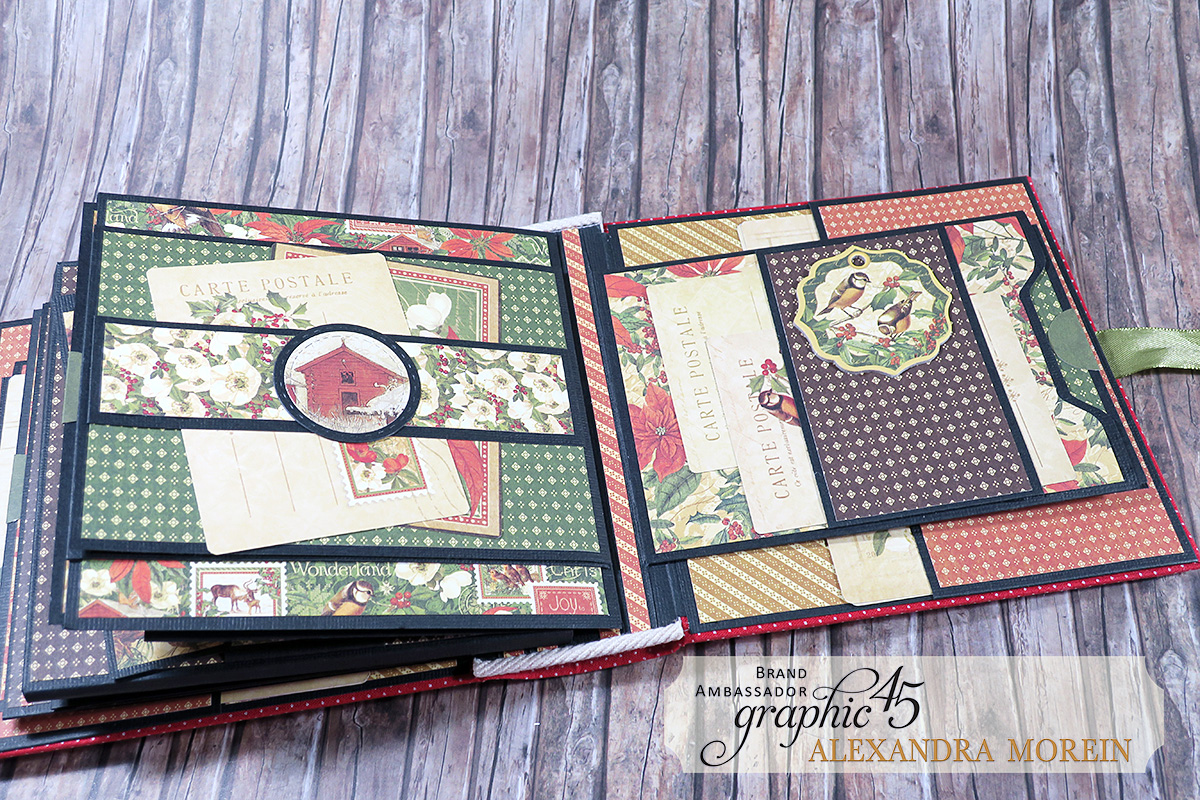 Winter Wonderland Mini Album, Project by Alexandra Morein, Product by Graphic 45, Photo 17.jpg