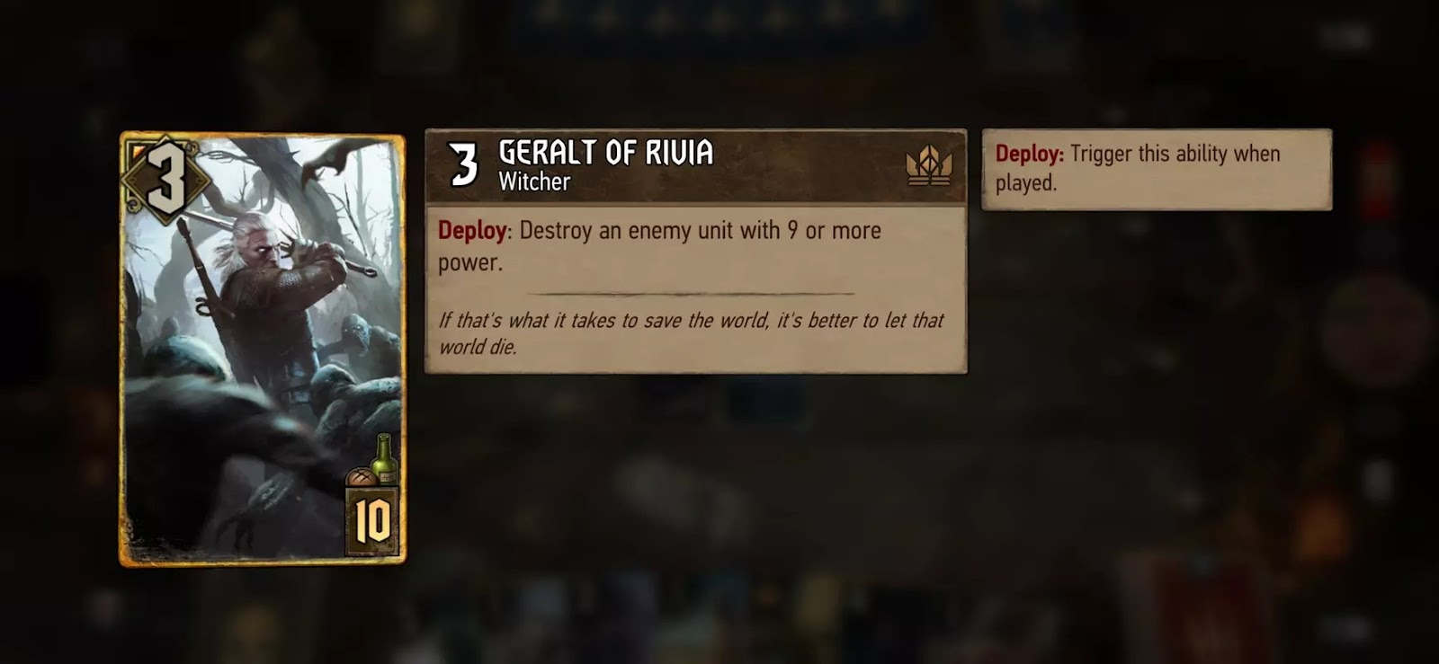 [Review] Gwent : The Witcher Card Game เกมการ์ดจากซีรีส์ The Witcher 20
