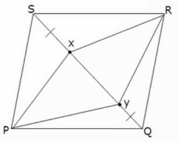 Geometry the learning point in the figure pqrs is a parallelogram and x y are the points on the diagonal qs such that sx qy prove that quadrilateral pyrx is a parallelogram ccuart Gallery