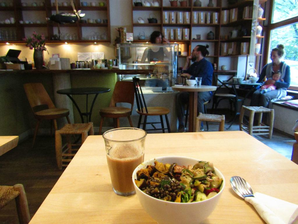 Résolution saine avec de la nourriture en vacances à Munich