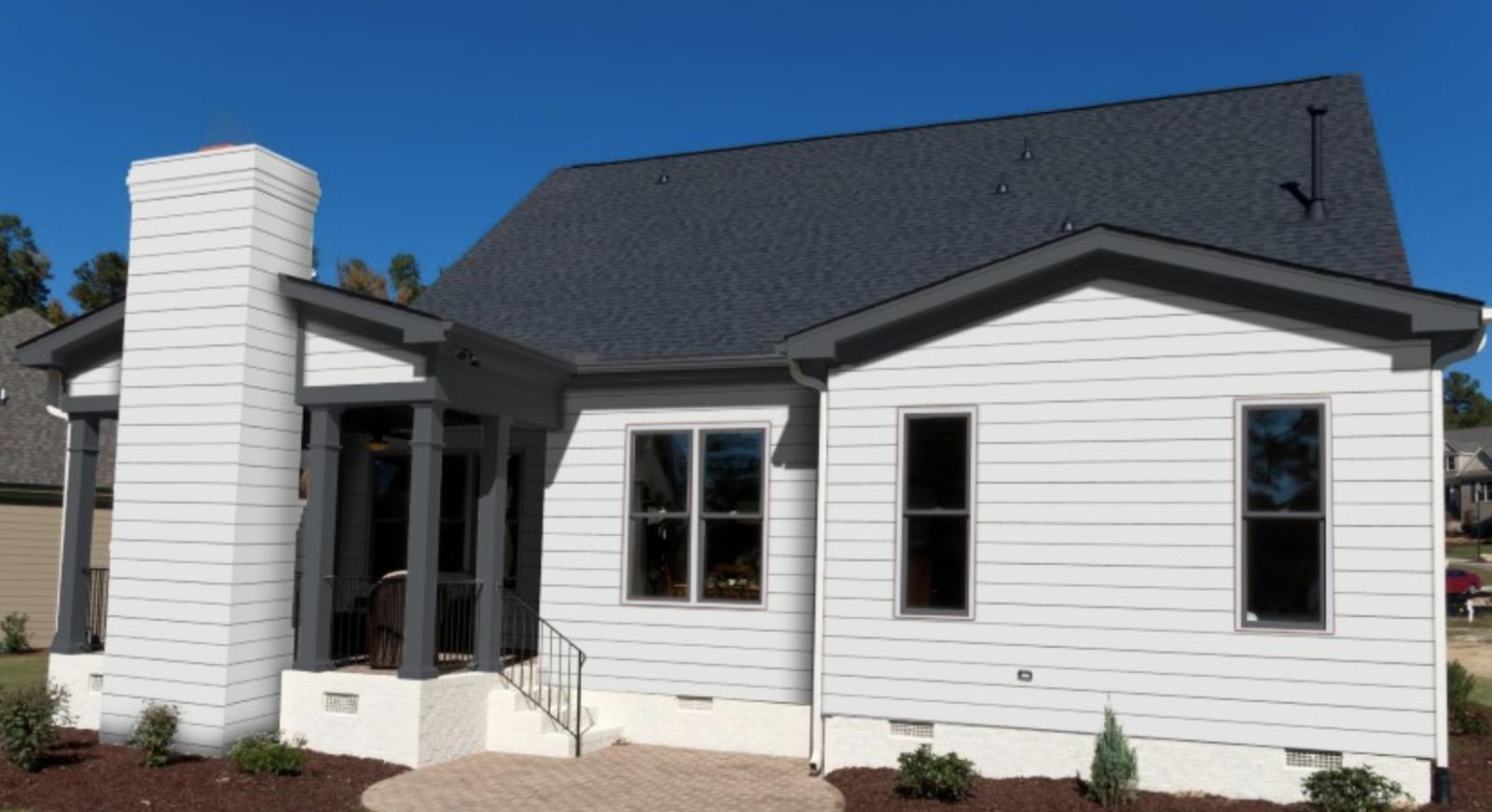 Accentuate light house siding with grey trim allura cms - White house white trim ...