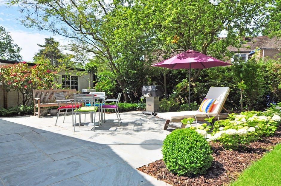 backyard, bench, daylight