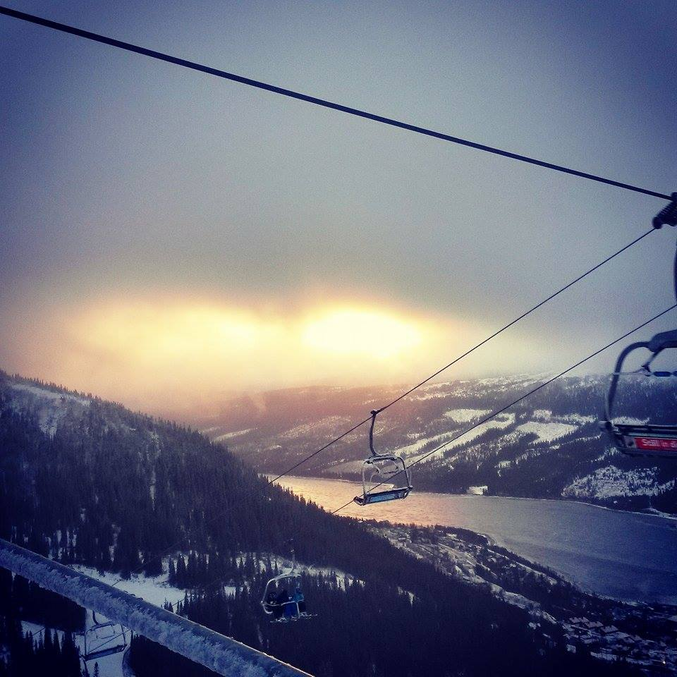 beautiful ski view