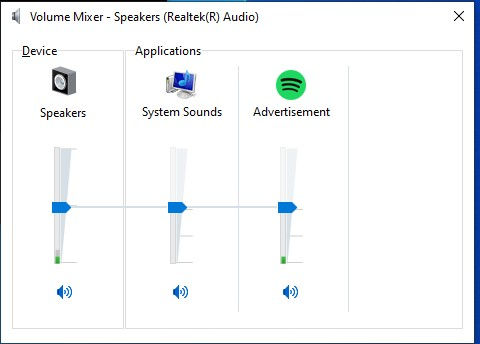 Speakers and System Sound channels