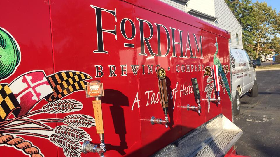 beer truck with taps
