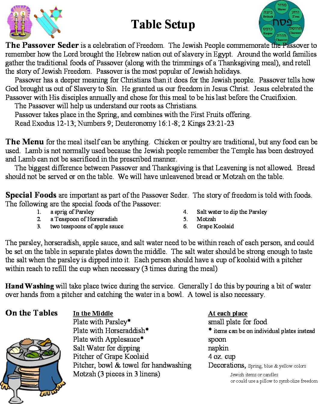 Kosher copy preparation for a church passover instructions for setting up for a church passover biocorpaavc Choice Image
