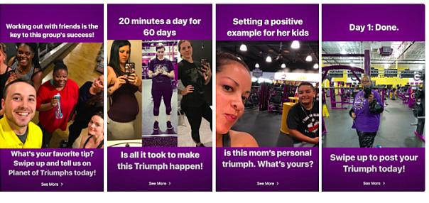 Planet Fitness Instagram Stories