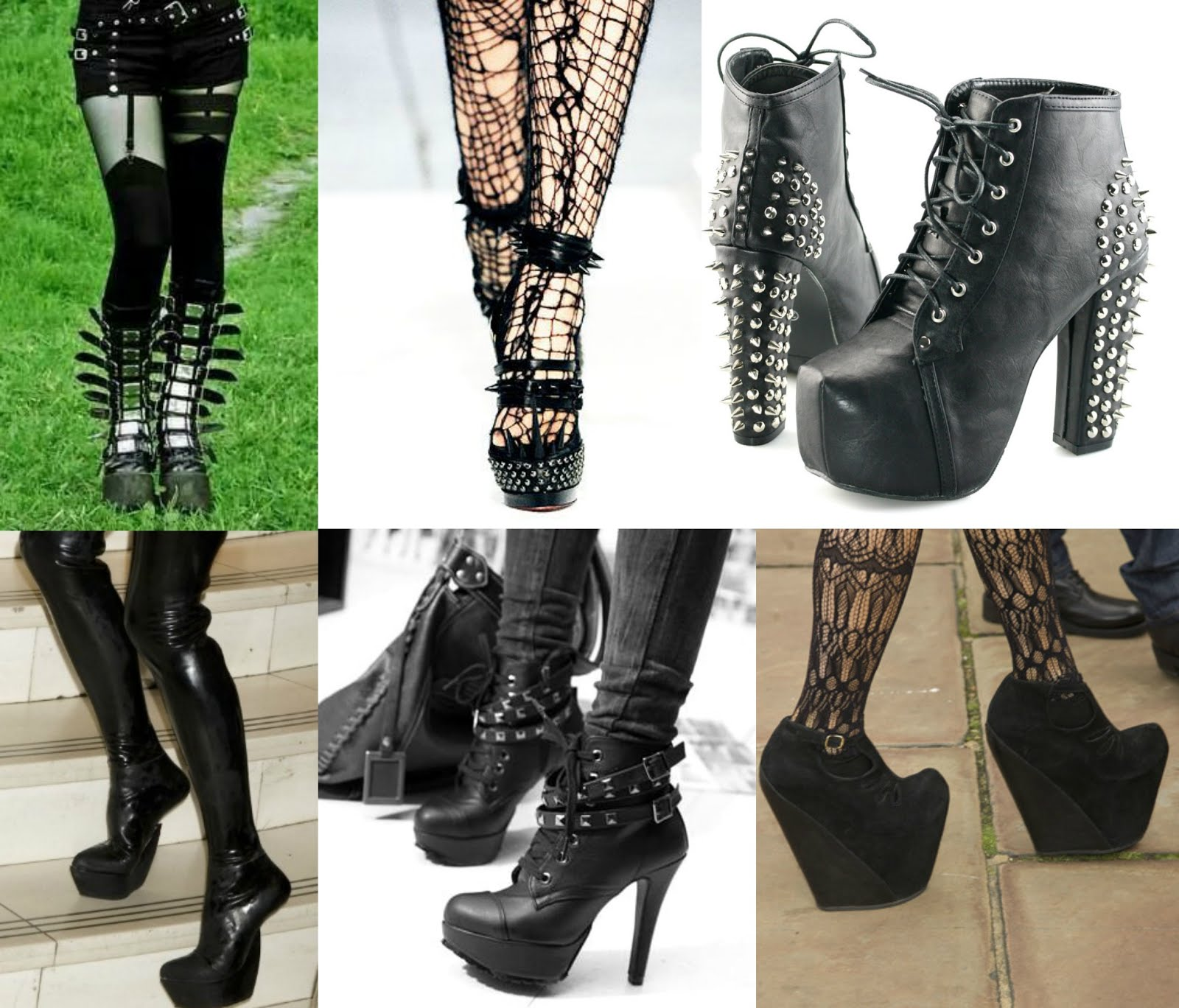 Best 6 street goth fashion style ideas you can wear them with buckles and spikes since you have toned it down on your spiky accessories why not wear them on your shoes instead solutioingenieria Images