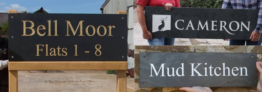 Purchase your bespoke stone estate sign from The Sign Maker in North Devon.