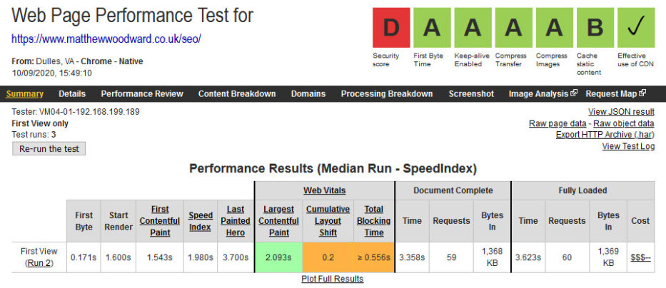 тест веб-страницы