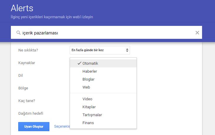 Google Alerts Nasıl Kullanılır?
