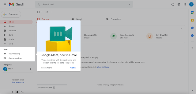 Instead of using the modal window over the entire page, Google introduces changes contextually